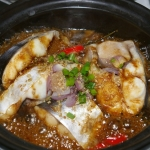 Shark catfish braised in clay pot