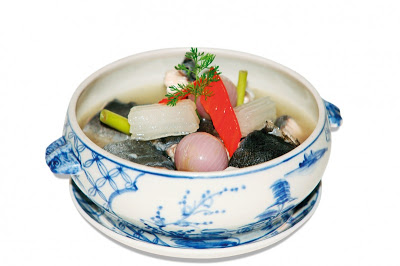 Eel stewed with citronella