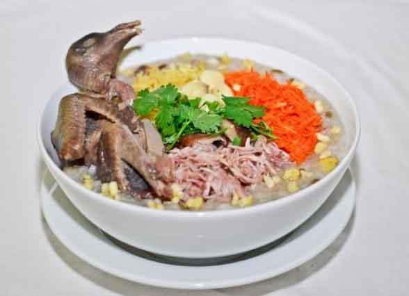Món cháo bồ câu đậu xanh bổ dưỡng