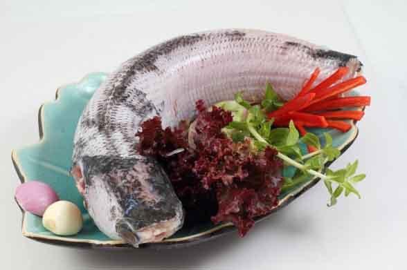 Nguyên liệu làm món cá lóc hấp