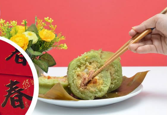 how to eat banh tet