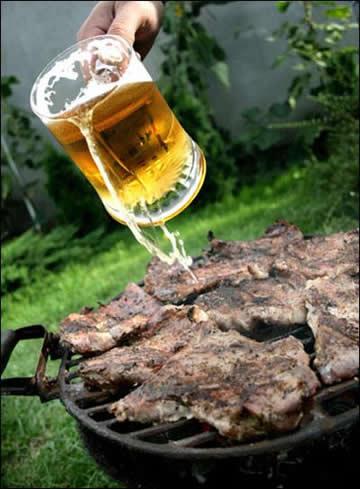 Dùng bia chế biến món ăn