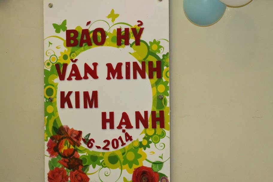 Tiệc báo hỷ Văn Minh - Kim Hạnh ngày 1/6/2014 - Nhà hàng Quá Ngon