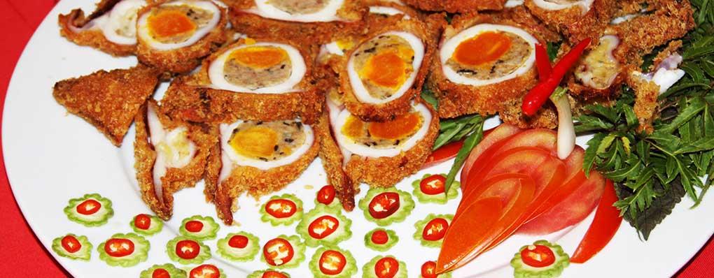 Mực chiên trứng muối