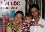 Tiệc thôi nôi bé Tấn Lộc ngày 27-09-2014