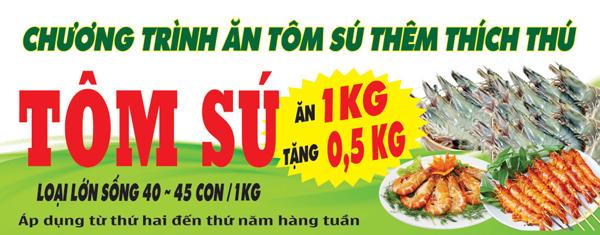 Ăn tôm sú thêm thích thú