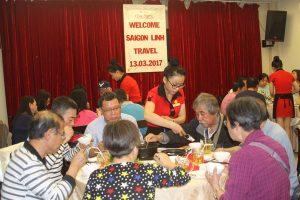 tiec khach doan-Sai Gon Linh Travel