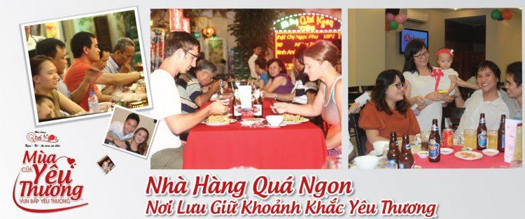 Nhà hàng Quá Ngon- Nơi lưu giữ khoảnh khắc yêu thương